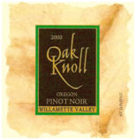 Oak Knoll Winery 2003 Oak Knoll Oregon Pinot Noir